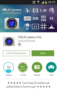 Aplikasi Kamera Android  DSLR Camera Pro