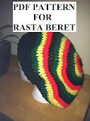 Crochet Pattern for Fun Slouchy Rasta Beret