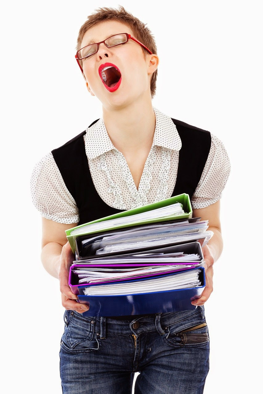 Exasperated working woman - anger management with your boss