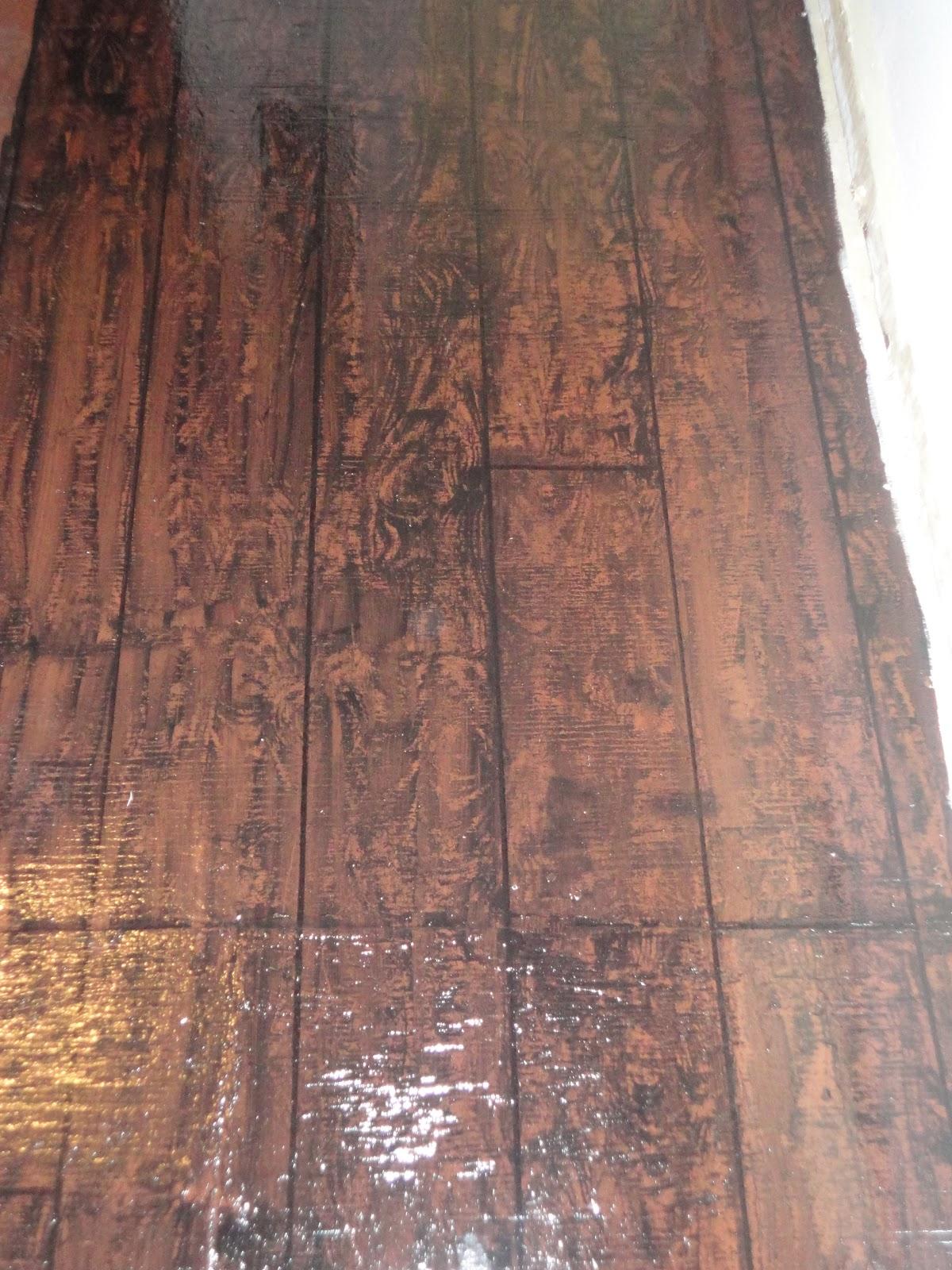 general splendour painted faux hardwoods floor update clear gloss. Black Bedroom Furniture Sets. Home Design Ideas