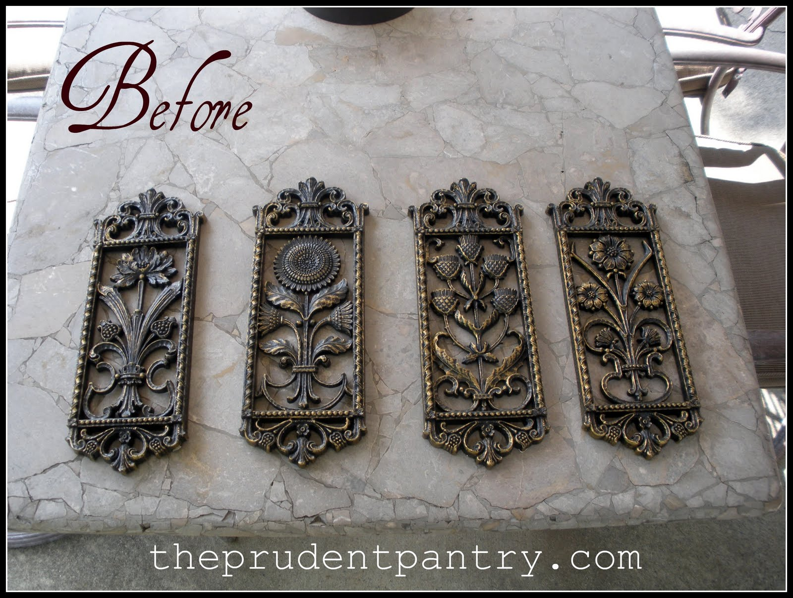 the prudent pantry decorative plaque redo. Black Bedroom Furniture Sets. Home Design Ideas