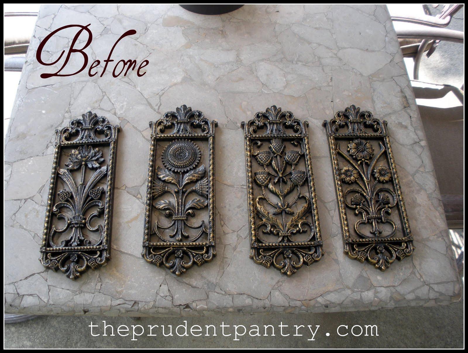 the prudent pantry decorative plaque redo. Black Bedroom Furniture Sets. Home Design Ideas