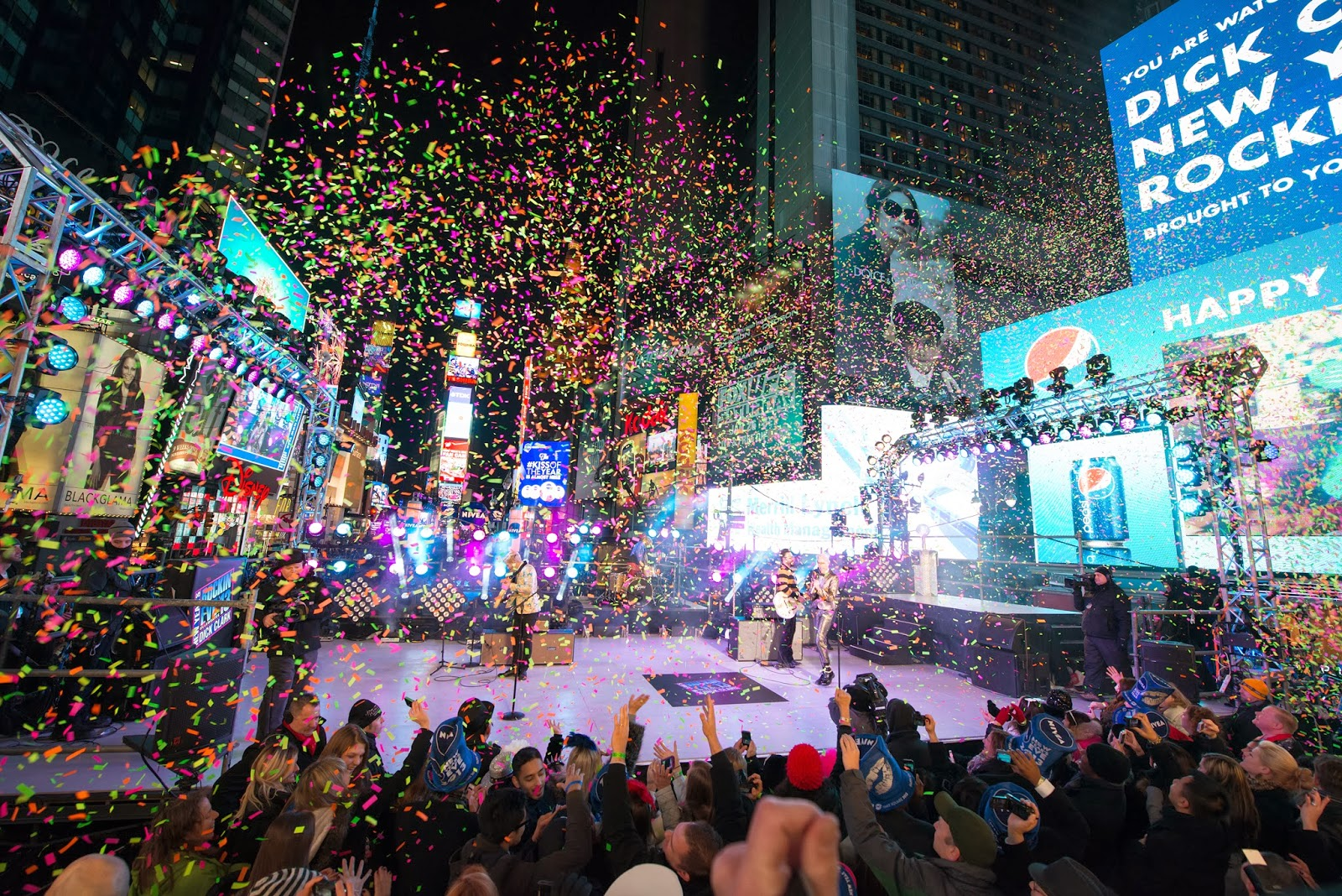 New Year Celebrations At Times Square New York Future Blow