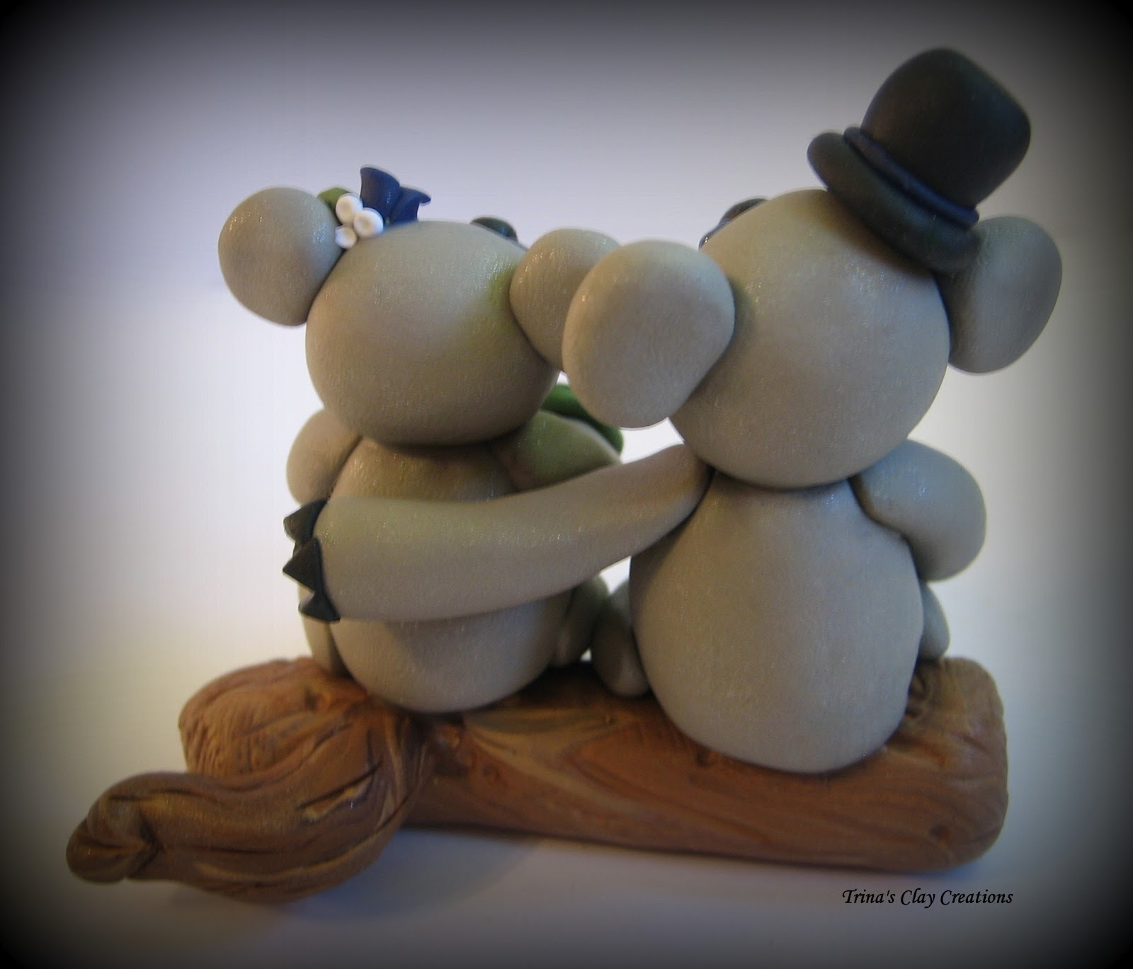 Trina's Trinketts: Koala and Panda Wedding Cake Toppers
