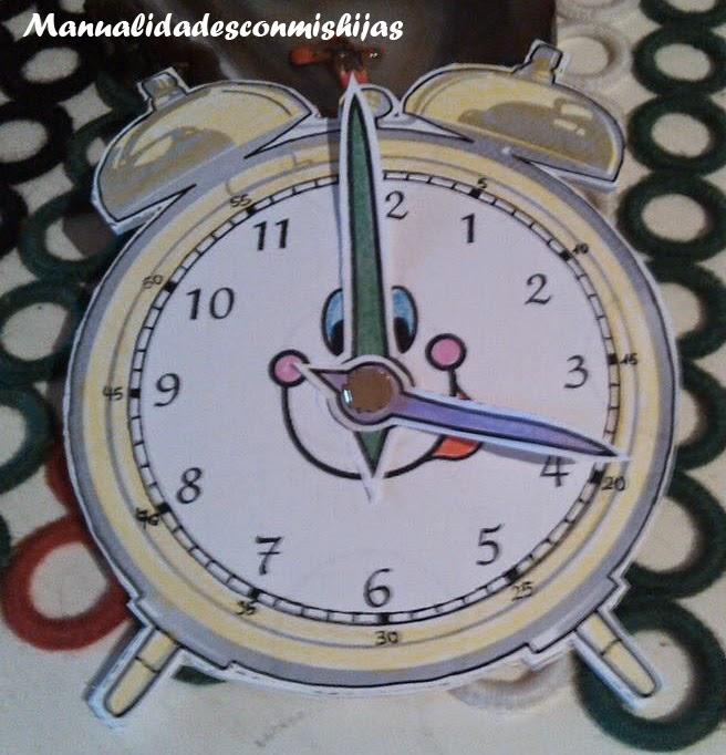 Manualidades con mis hijas aprendemos las horas - Manualidades relojes infantiles ...
