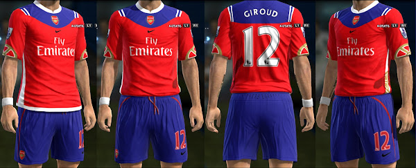 PES 2013 Arsenal FC Fantasy Home Kit by Ginda01