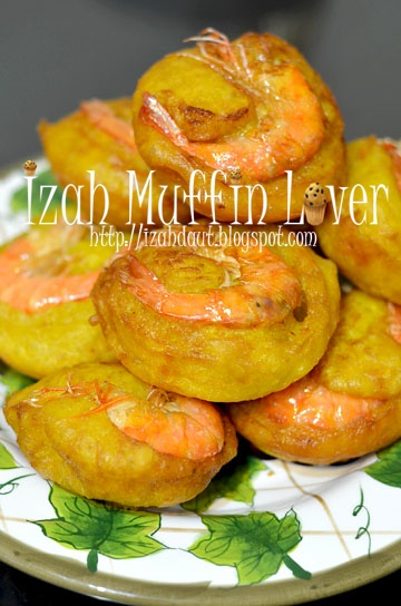 Izah Muffin Lover Cucur Udang Tembam