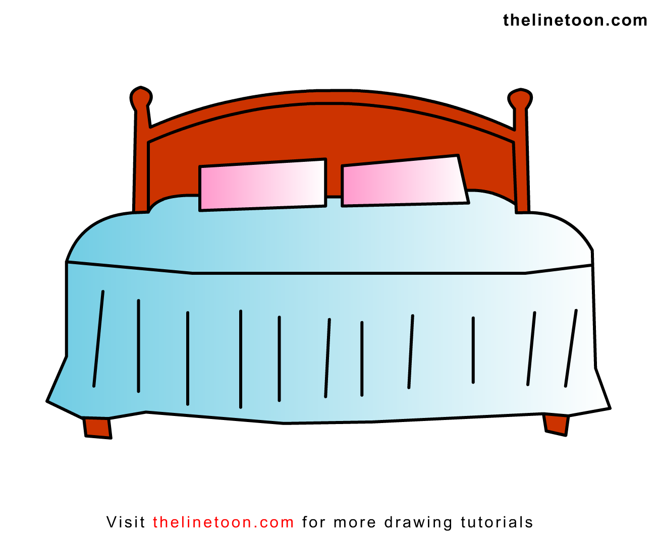bedroom drawing easy images