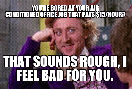 pretend super busy supervisors share ive work busy cure boredom