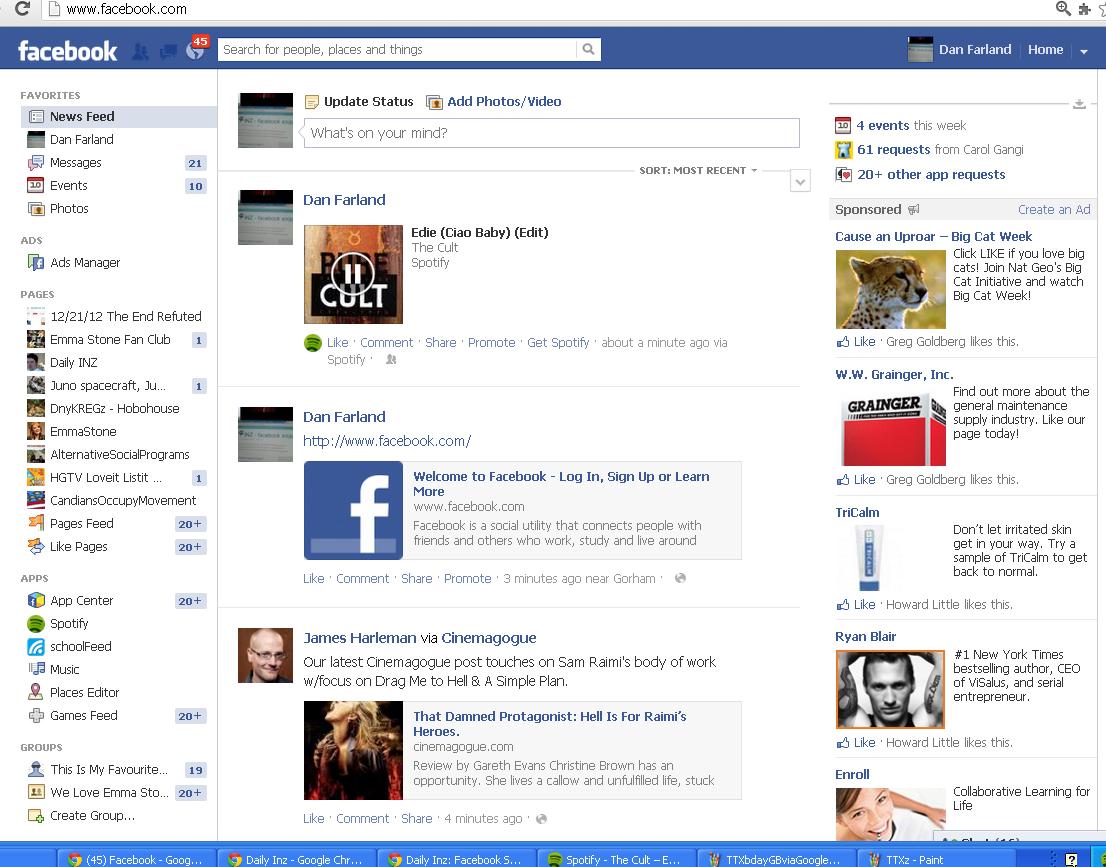 Daily Inz: facebook meep meep