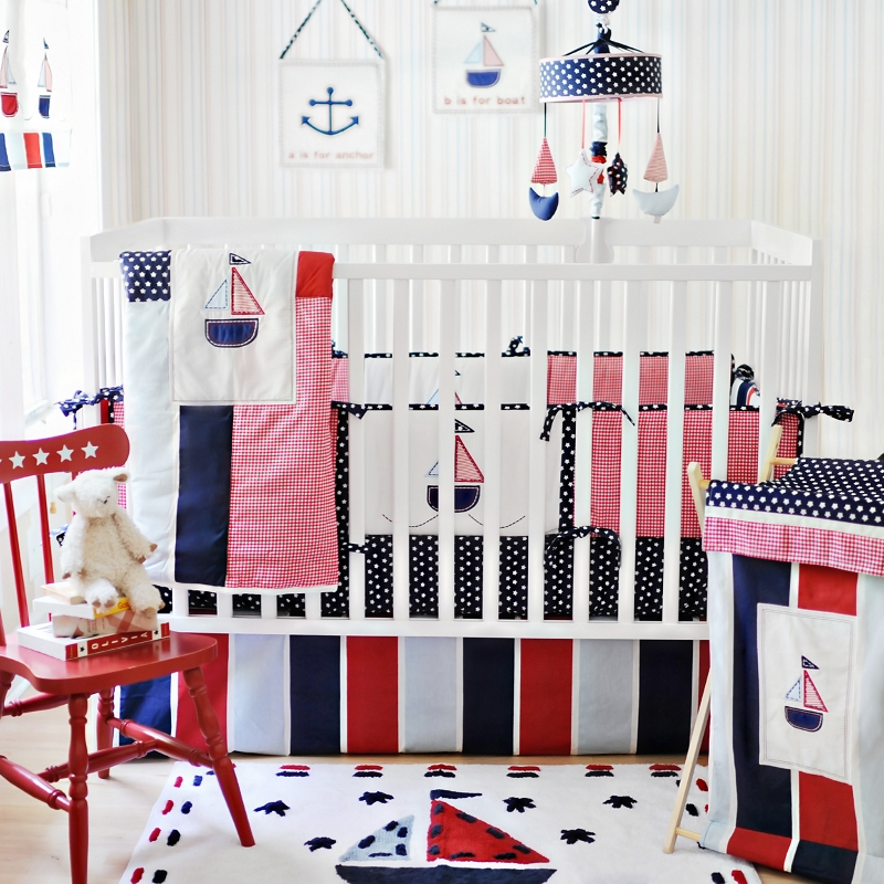 Baby rooms decor boy crib bedding for Baby crib decoration
