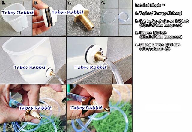 cara instalasi nipple kelinci