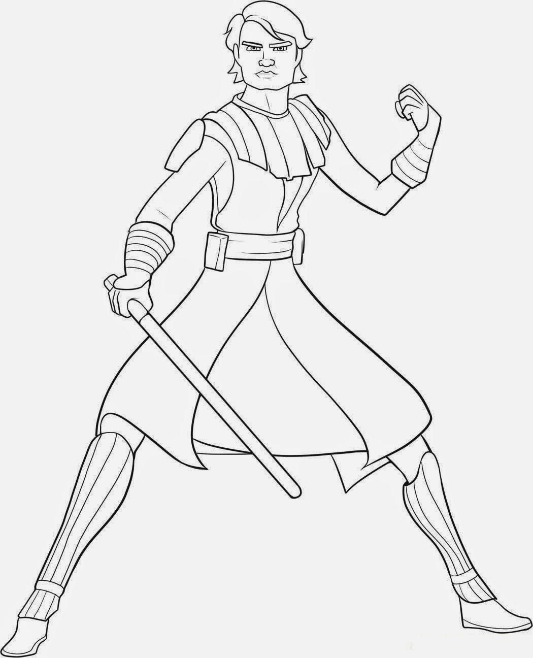 Free Star Wars Coloring Pages Anakin Skywalker for KidsAnakin Skywalker Coloring Pages