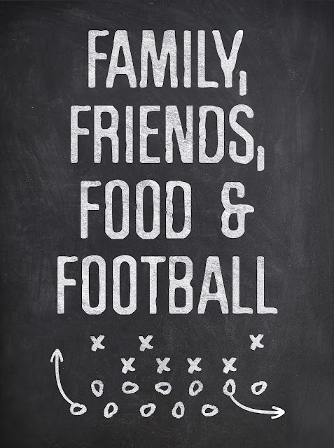Chalk Board Food, Family Football Printable