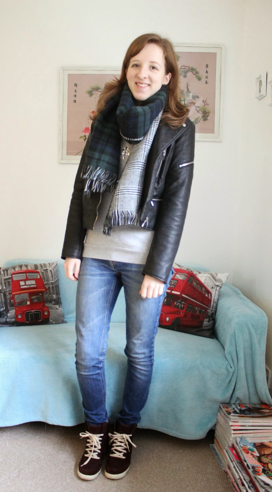 OOTD: Casual Jumper and Wedge Trainers with Zara, Tesco and Asos