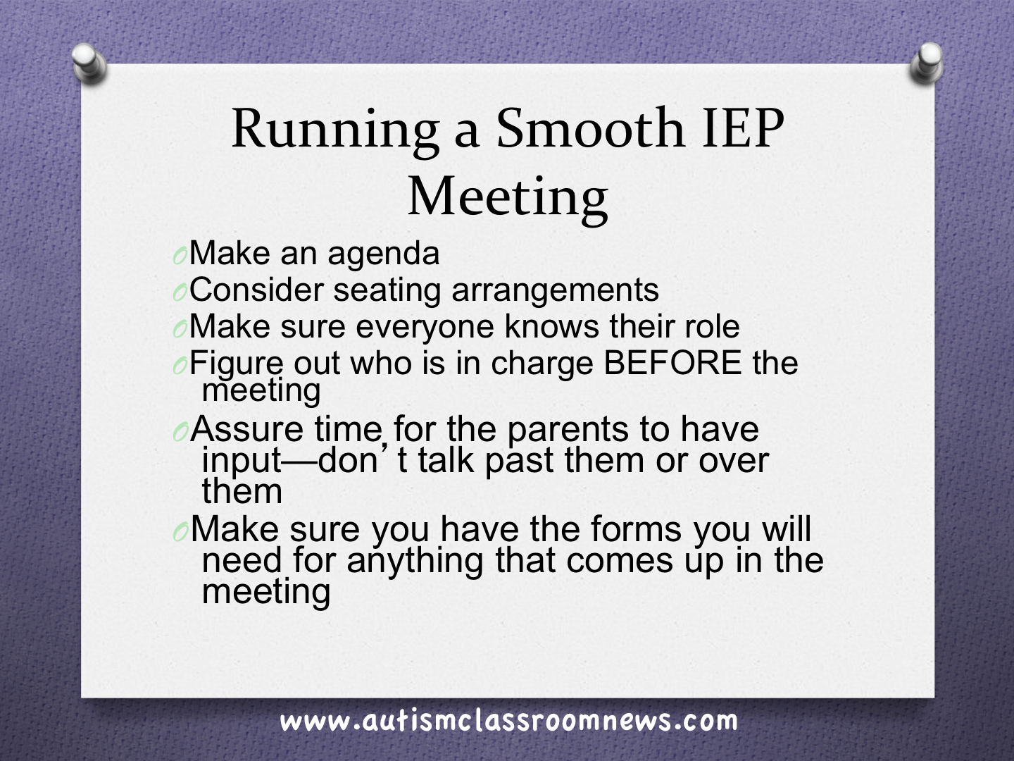 Running a Smooth IEP Meeting: Part 1 - Autism Classroom Resources