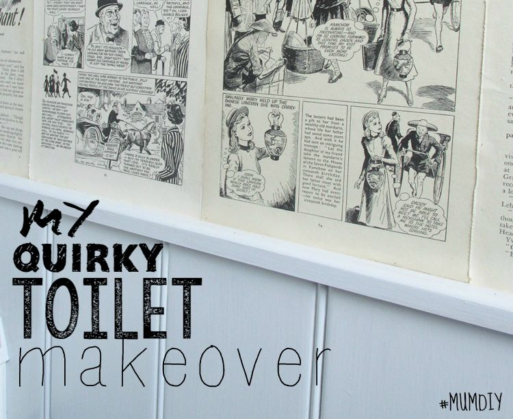My Quirky Toilet Makeover