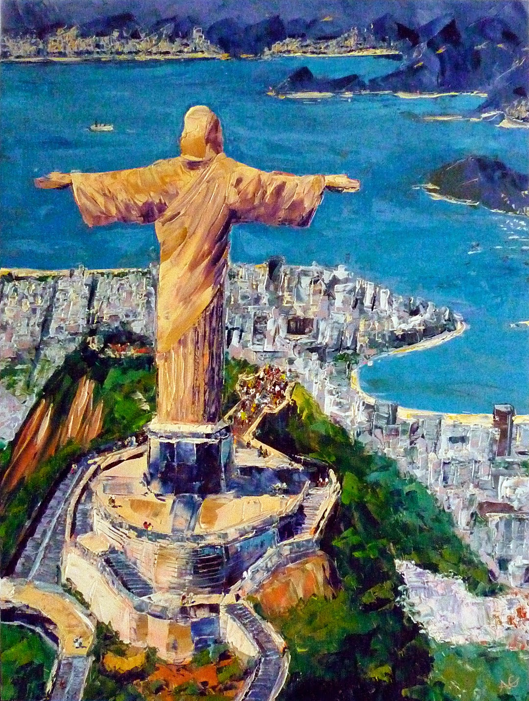 Ann gorbett palette knife painting two paintings become one - Rio art wohnwand ...