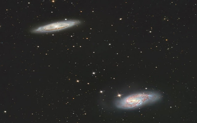 galaxias espirales M65 y M66