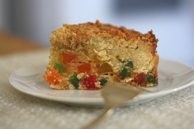 Gumdrop Cake With A Can Of Cream In It
