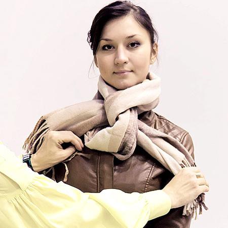 възел на зимен шал