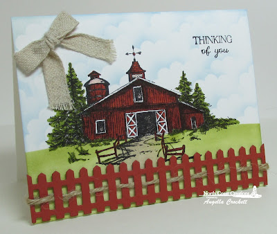 "North Coast Creations ""Barn"", sentiment from ""Find Beauty"" Card Designer Angie Crockett"