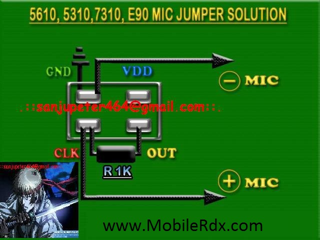 Nokia 5610 , 5310, 7310, E90 mic solution