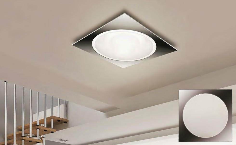 Iluminaci n y l mparas en madrid plaf n moderno bajo consumo for Plafones techo modernos