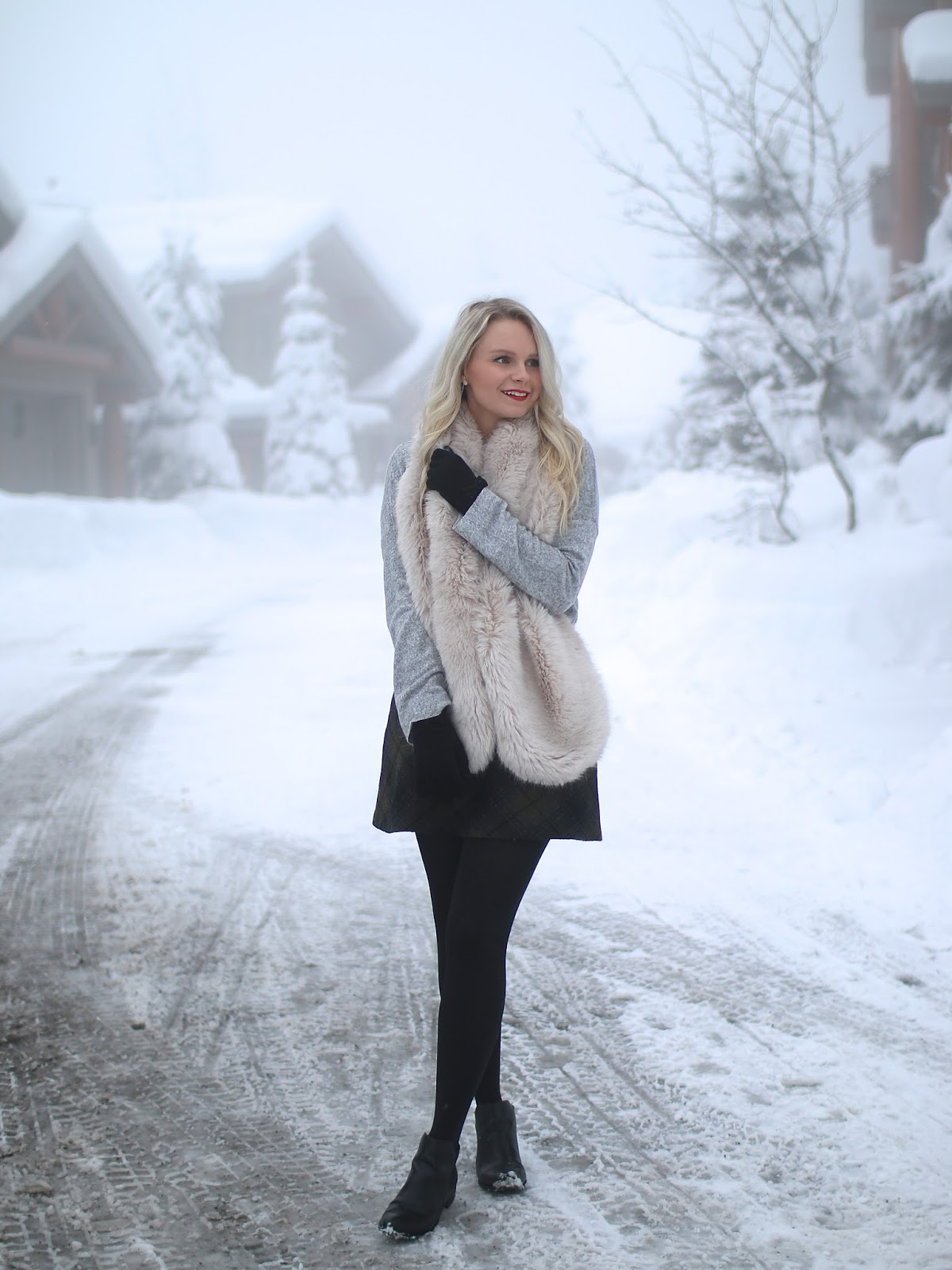 how to style a fur stole