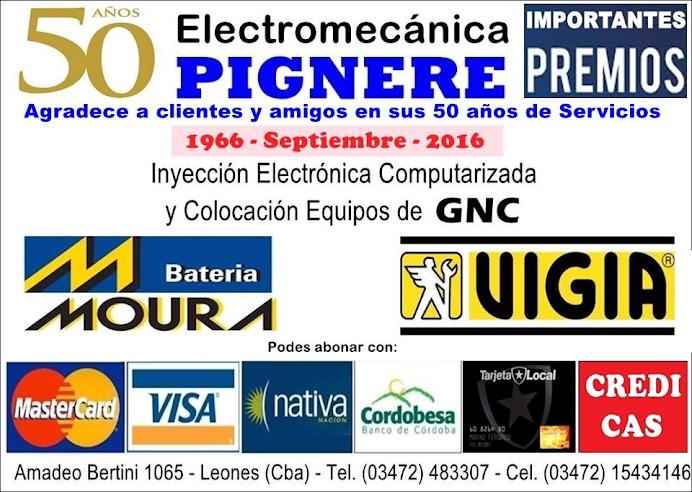 ESPACIO PUBLICITARIO: ELECTROMECÁNICA PIGNERE