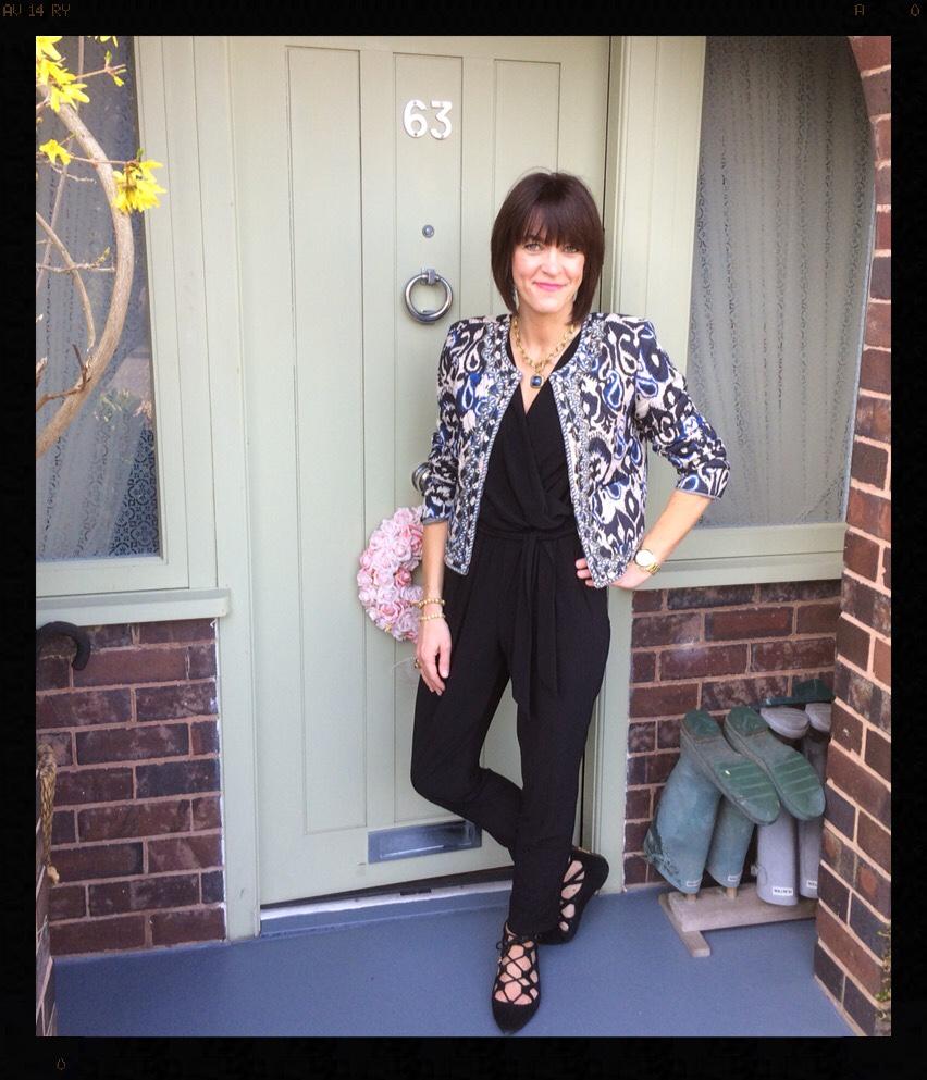 My Midlife Fashion, Jumpsuit, Mango, Zara, Wallis, Quilted Jacket, Office Shoes