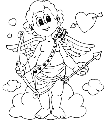 Valentine Cupid Coloring Pages