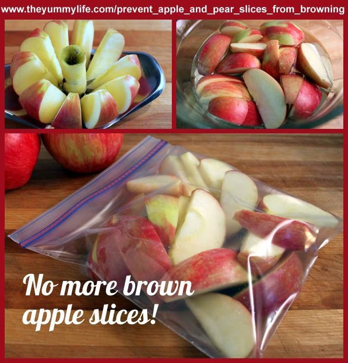 how to stop apple slices from turning brown