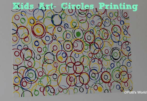 kids art Circle Printing