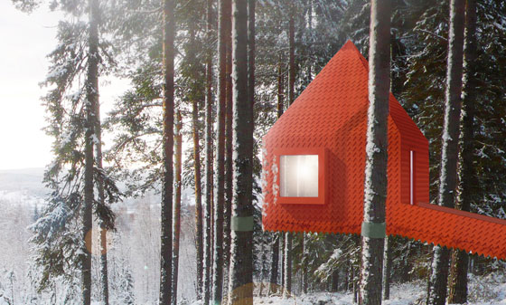 Treehotel Sweden, Blue Cone Room