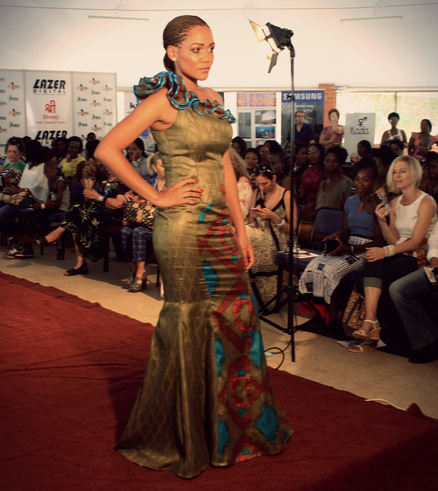 D Exhibition Zambia : Afro funk fahsionably late zambia fashion week review