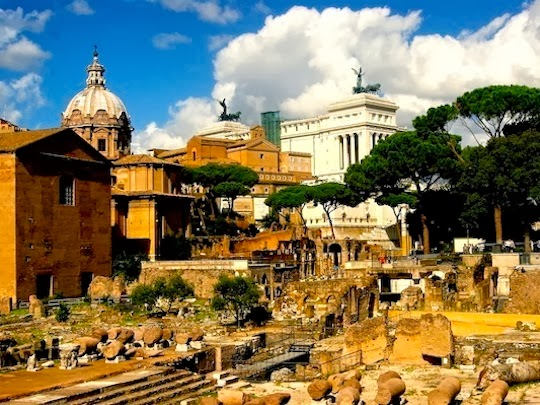 View on the Forum Romanum
