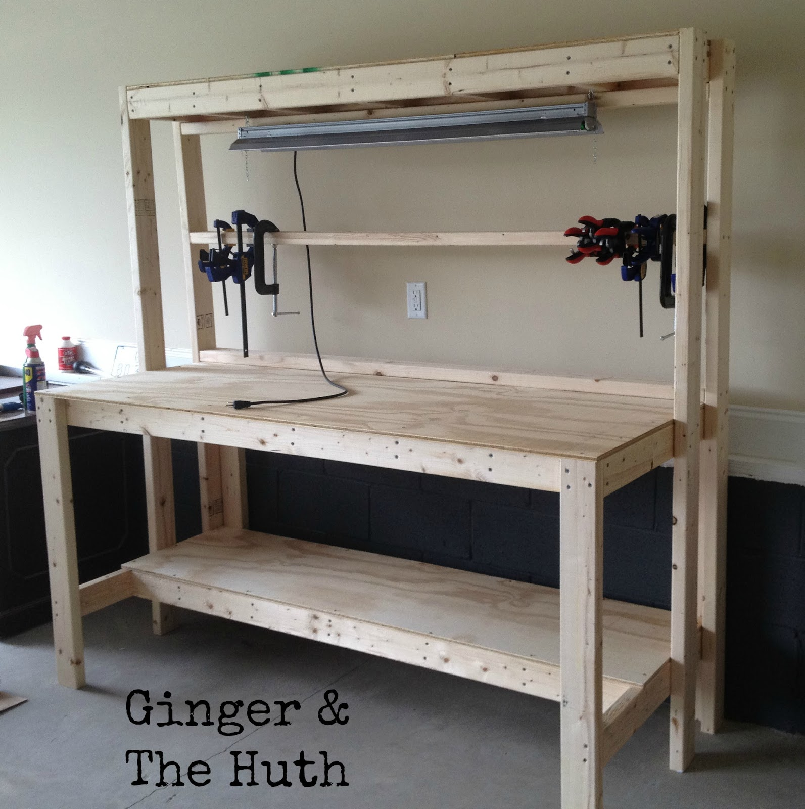 Woodwork Diy Workbench Light PDF Plans