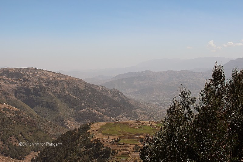 The mountains by Debre Birhan in Ethiopia