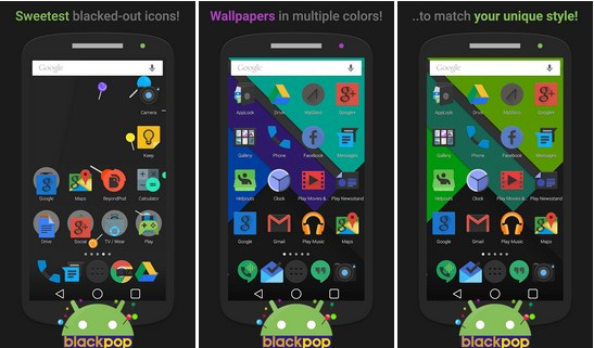 Free Download BlackPOP Launcher Theme v1.9 Full Apk