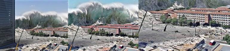 1)Разрушительные последствия наката и отката цунами.