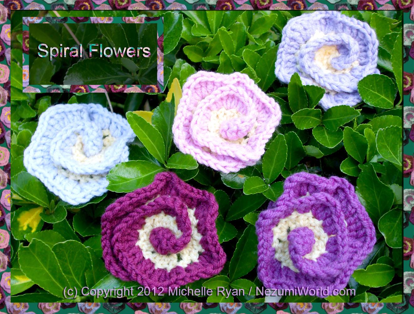 Spiral Crochet Flower Pattern Free : NezumiWorld Blog: Spiral Flower - International Crochet ...