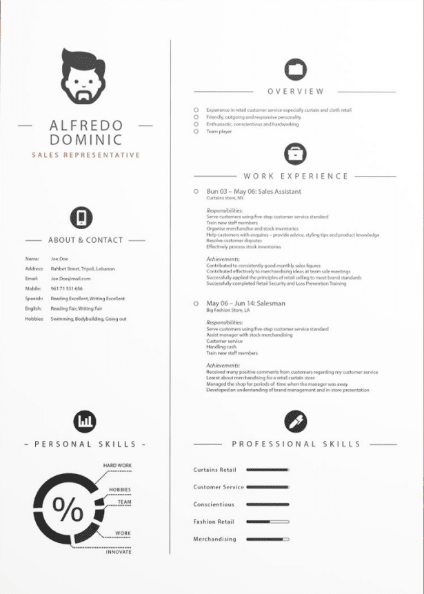 Professional Clean CV template
