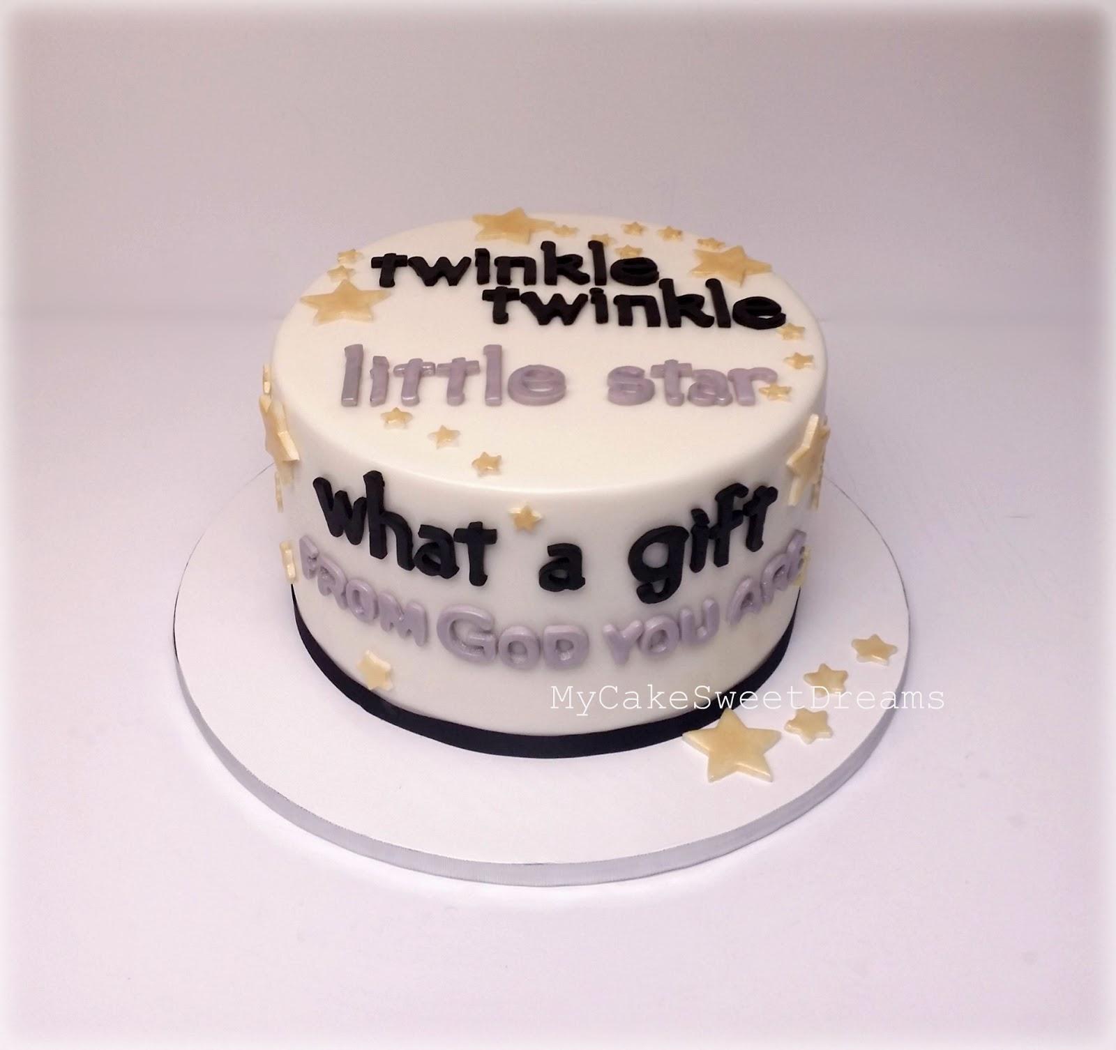 """My Cake Sweet Dreams"""": Gender Reveal Cake"""