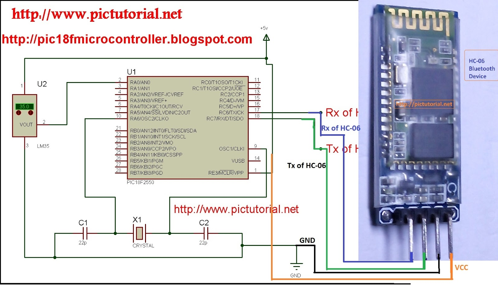 Pic Bluetooth Project Robot Robo Car Android Remote Control Using 89c2051 Based Temperature Meter Microcontroller And