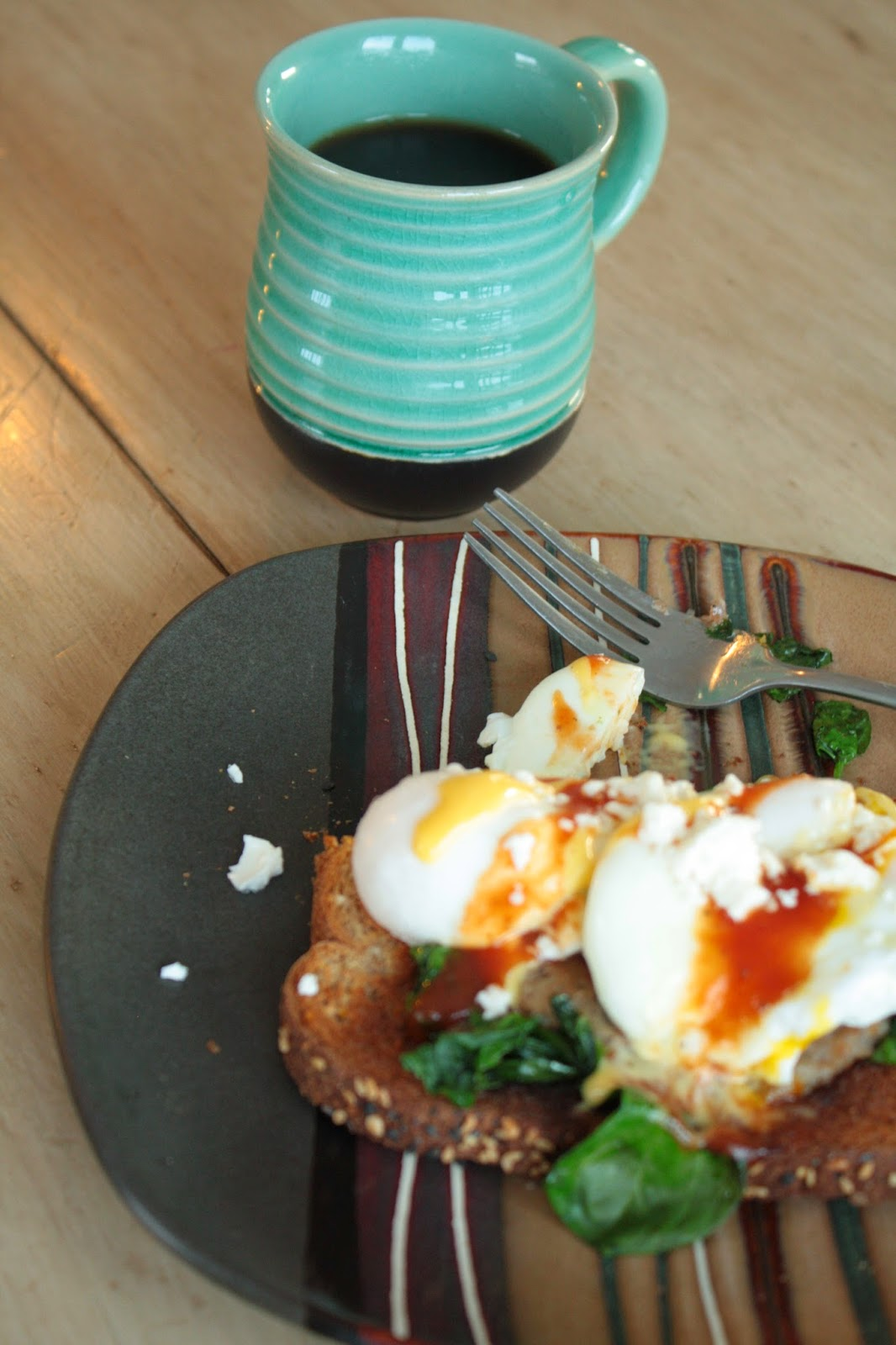 Poached Eggs on Toast || sarahesh.blogspot.com