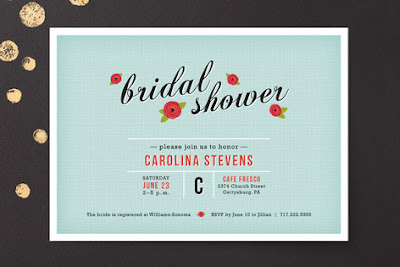 Bridal Shower Invites via Minted on Darling Cashmere