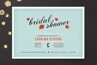 Bridal Shower Invites via Minted on Darling Cashmere
