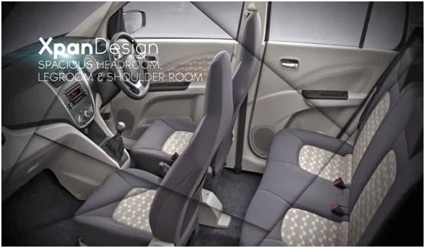 Maruti Suzuki Celerio with seating capacity of 5 adults and big legroom