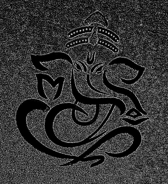 black outline of Ganesha